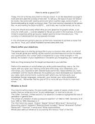 Cover Letter How To Write The Perfect Resume How To Write The