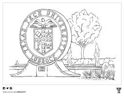 From animals, to sports, to flowers, there is no shortage of coloring pages for kids available at turtle diary. Red Raider Coloring Pages Texas Tech Today Ttu