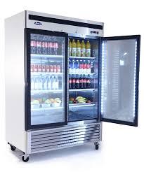 two glass door refrigerator atosa mcf8707