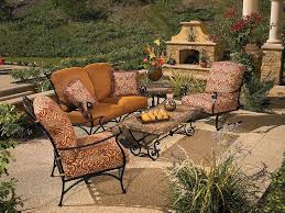dining wrought iron patio furniture sets black wrought iron patio