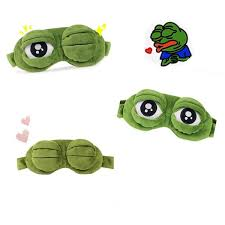 Funny <b>Cartoon</b> Sad <b>Frog</b> 3D Soft Eye Mask Sleeping <b>Cosplay</b> Toys ...