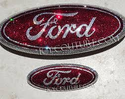 cool ford logos. crystal ford car bling oval emblem with swarovski crystals cool ford logos