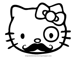 Big Coloring Pages Of Hello Kitty Printable Coloring Page For Kids
