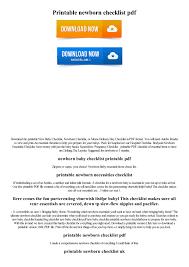 5 Baby Layette Checklist Printable Pdf