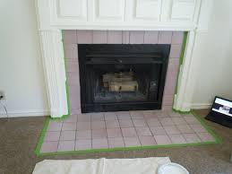 gallery of how to paint tile easy fireplace makeover outstanding painting briliant 7