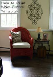 painted wicker furnitureHow To Paint Wicker Furniture With a Brush  Chair Makeover