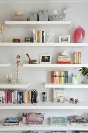 inspiring white bathroom wall shelves
