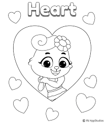 25 interesting kingdom hearts coloring pages for your little ones. Printable Hearts Free Printable Heart Shape