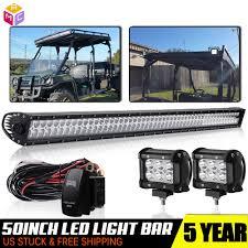 John Deere Gator Led Lights Details About 50 In Led Light Bar Spot Flood Combo For John Deere Gator Yamaha Rhino Prarie 52