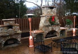 exterior design surprising diy backyard fireplace with rustic outdoor cooking sets and relaxing outdoor black