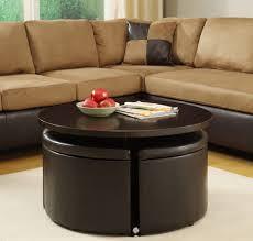 amazing round leather ottoman coffee table