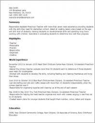 Preschool Teacher Assistant Resume Cool Teacher assistant Resume Sample Skills In Professional 76