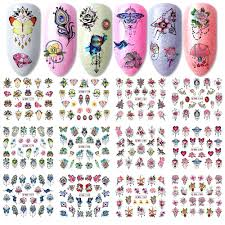 12pcs Gems Nail Sliders Butterfly Blooming Flowers Jewelry ...