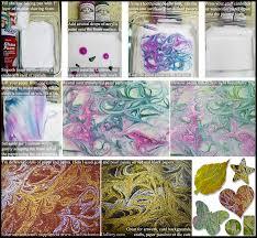 shaving cream marbling transfer tutorial acrylic paint swirl decorative paper diy craft project