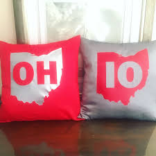 Ohio State Bedroom Decor Sale Ohio State Buckeyes Oh Io Matching Pillow Set By