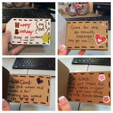 Creative Coupons For Boyfriend