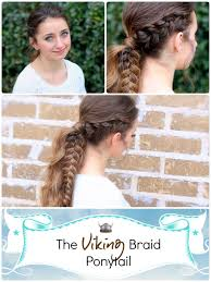 Very Easy Cute Hairstyles The Viking Braid Ponytail Hairstyles For Sports Cute Girls