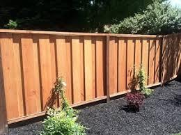 redwood fence or deck