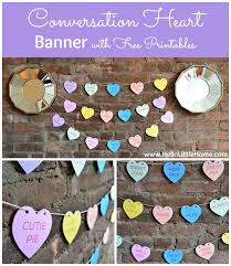 printable welcome home banner template diy conversation heart banner with free printables