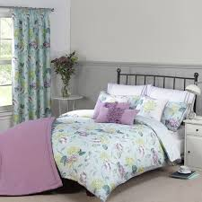 abigail duck egg pure cotton reversible duvet cover