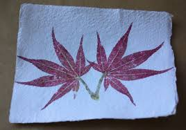 picture of hammered leaf and flower prints