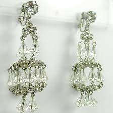 hattie carnegie austrian crystal chandelier clip earrings to expand