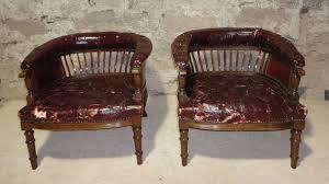 antique tub chairs walnut
