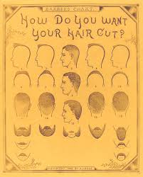 1890 Barber Shop Men Haircut Chart Haircuts For Men