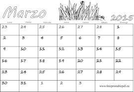 Marzo 2015 Calendario En Blanco Para Imprimir Y Colorear Imprimir