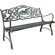 inspirational metal patio bench and awesome cast iron patio bench metal bench metal wrought iron bench