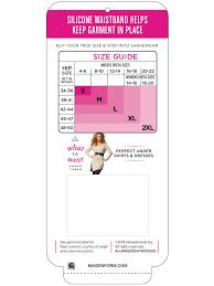 Maidenform Size Chart Flexees Cool Comfort Seamless Waist Cincher
