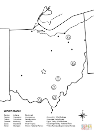 Small Picture Ohio Map Worksheet coloring page Free Printable Coloring Pages