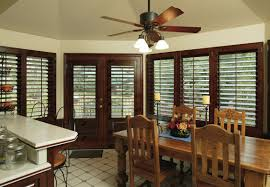 stained plantation shutters with painted trim classic line shutters stained outside mount with l frame and t post