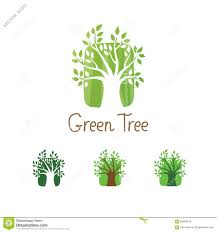 Small Picture Green Tree Vector Logo Design Garden Concept Eco Icon Stock