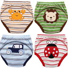 4 Mom Bab Potty Training Pants 4 Layered Underwear For Toddlers Washable Resuable Soft Cotton Comfortable Fit For Your Baby Medium