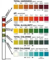 Pool Chemical Testing Chart Clorox Pool And Spa 3 Way Test Kit Color Chart 20