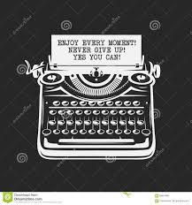 Affiche De Motivation De Citation Machine à écrire De Vintage Avec