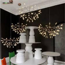 creative art designer chandelier lighting tree leaf vintage led lamp fixtures by bertjan pot suspension lamp