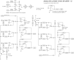 ken stone s modular synthesizer the schematic of the analog logic there are minor differences between this diagram and the earlier version notably the output buffers