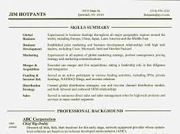 ... skill section of resume resume template