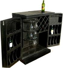 Wine Bar Storage Cabinet Rustic Solid Wood Home Pub Bar Storage Wine Rack Liquor Cabinet