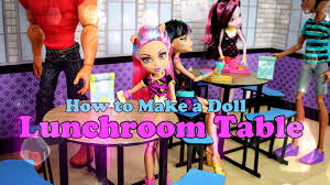 school lunch table. DIY - How To Make: Doll Lunchroom Table BACK TO SCHOOL Handmade Crafts YouTube School Lunch C