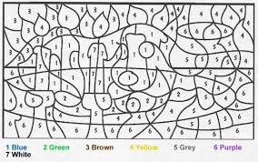 Small Picture Color By Number Coloring Site Image Coloring Pages With Numbers at