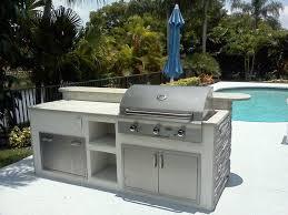 the benefits of prefabricated outdoor kitchen islands outdoor kitchen design using white brick kitchen island