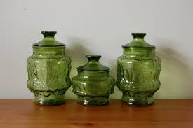 Green Canister Sets Kitchen Kitchen Canisters Glass Kitchen Room Media Storage Chevron Baby