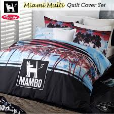 details about miami palm tree quilt doona duvet cover set by mambo single double queen