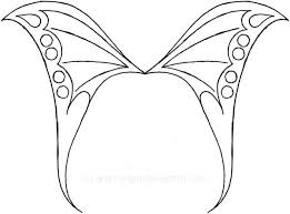 Fairy Wing Template Fairy Wing Drawing Elegant Fairy Wings To Colour