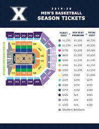 Cincinnati Bearcats Basketball Seating Chart 2019 20 Xavier Mens Basketball Season Tickets On Sale Now