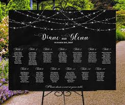Digital Seating Chart Wedding Wedding Seating Chart Printable Black Custom Wedding Sign