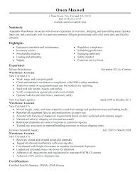 resume examples for warehouse worker easy resume examples warehouse worker resume general warehouse